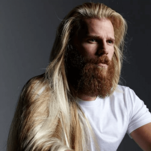 Hair Down, Long Ginger Beard