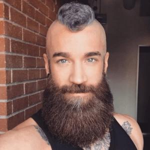 Full Viking Mohawk with Huge, Round Beard